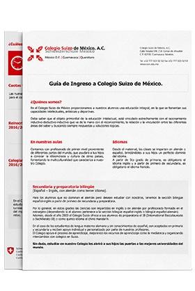 Descarga la guía de ingreso a Colegio Suizo de México CVA